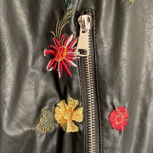 Max Edition Jackets & Coats - Floral Faux Leather Jacket